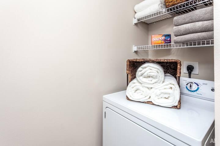 unit's  private laundry room