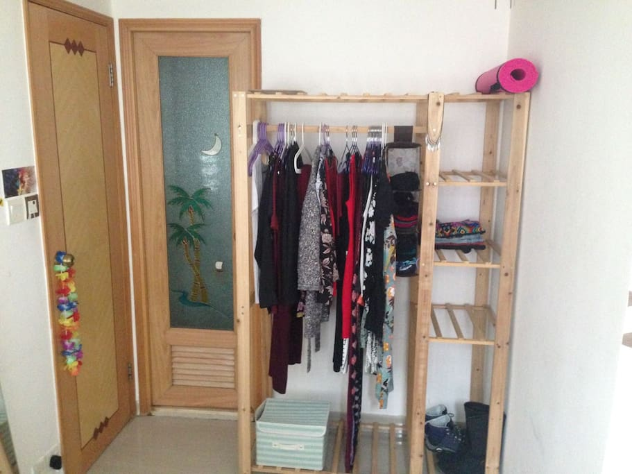Room has closet for clothes, and desk if required.