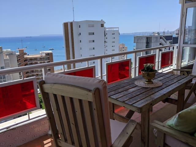 Vistas al mar, terraza grande, playa