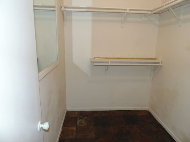 SPACIOUS WALK INN CLOSET FOR THE MASTER BEDROOM