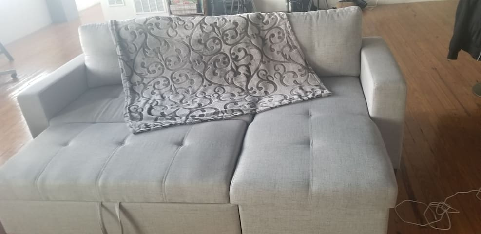 Cozy couch 5 min to Piedmont Park in midtown Atl