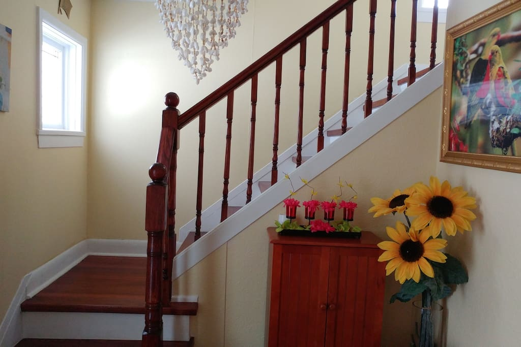 Stair Case leading you to 2 bedroom upstairs