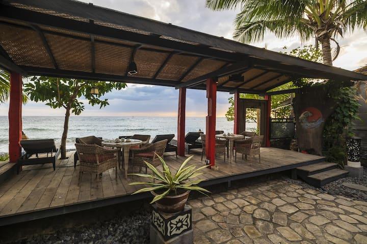Beachfront property features unique designed rooms