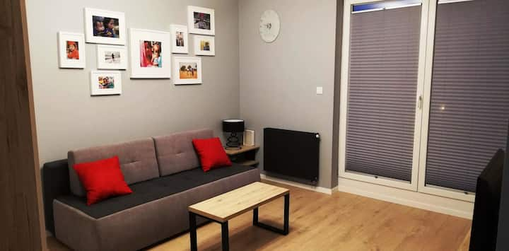 Modern Apartment at Bielany Park and Hospital