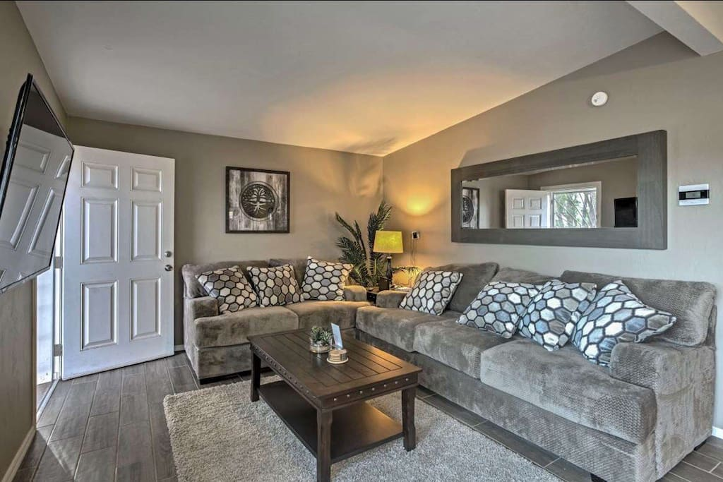 Ultra plush, brand new, deep seating couches comfy for an evening in watching movies