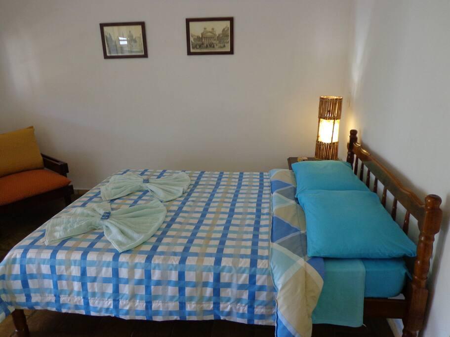 Suite Superior para casal com ar-condicionado,tv e wi-fi