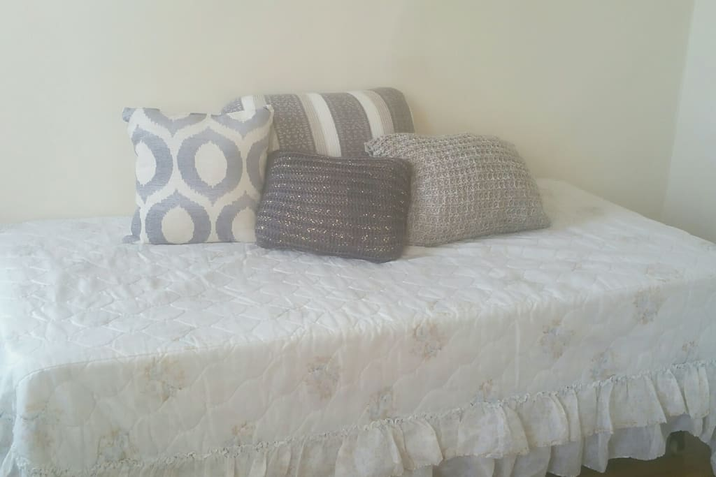 The twin bed