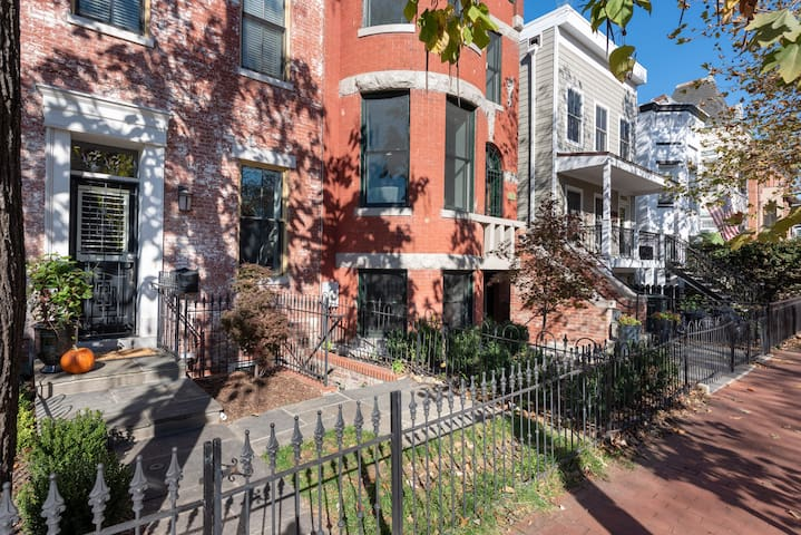Charming English basement in Shaw townhouse