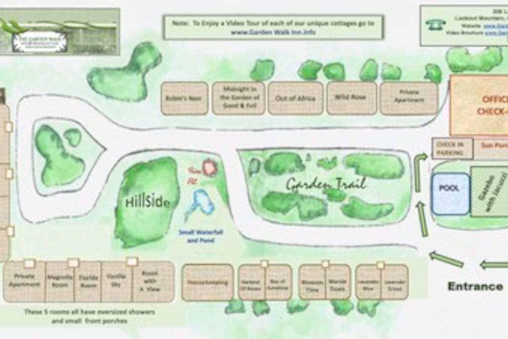 Map of Property w/names of cottages