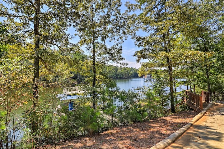 The home's private dock and boat slip make getting out to explore the river easy!