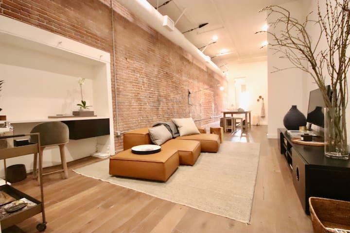 Spacious Designer's Arts District Loft