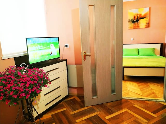 Center Apartment Lviv (0 minutes to city center)