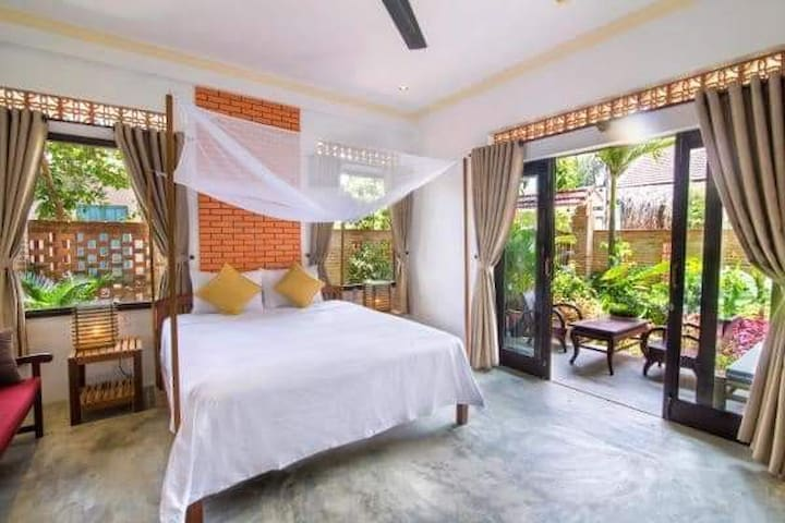Private spacious ensuite room with patio