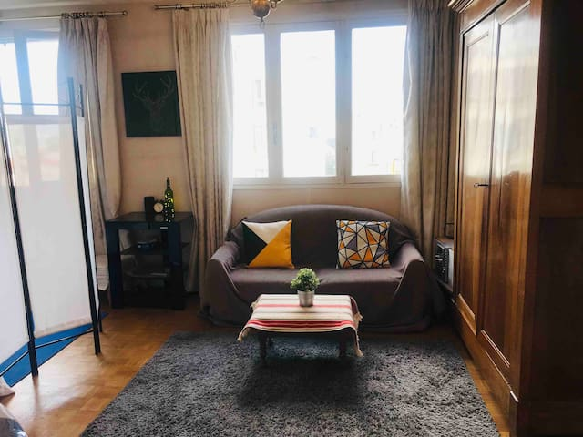 Sofa-bed in a cozy Flat / near CATACOMBS (Paris14)