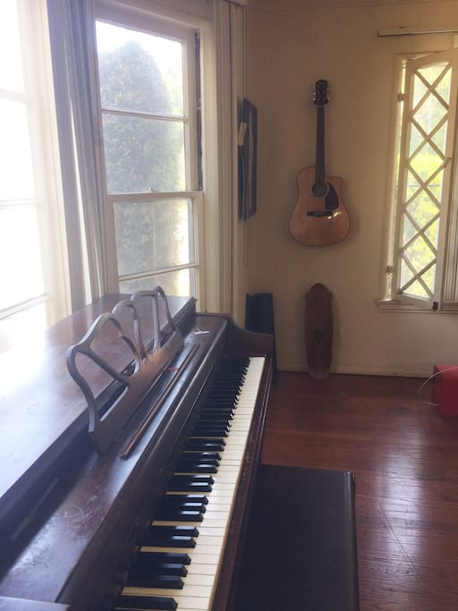 If you're a musician, feel free to use the piano and guitar.