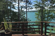 Beautiful views of Walloon Lake from deck.