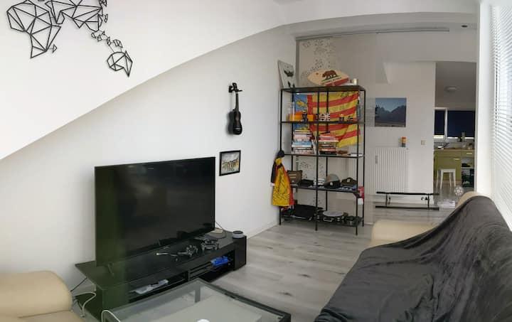 Cosy modern penthouse, Olympiapark, BMW Welt