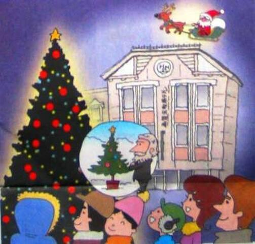 日本 クリスマスツリー発祥の地にあるホテル 150年前隣接地で当時のロシア領事館においてゴシケビッチ領事が開催した。