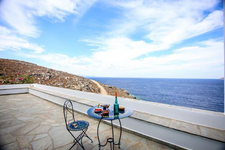 Unique Sea front Villa Marpesia in Tinos