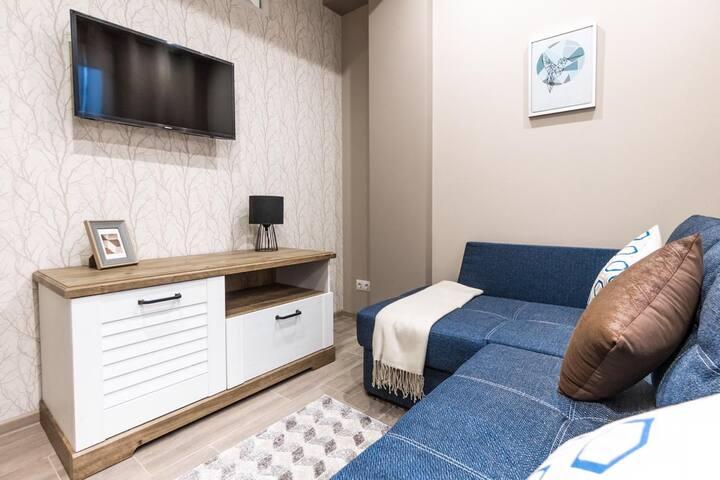 Квартира на 4 гостей возле парка, рядом с морем