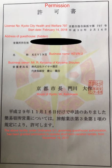 Official Kyoto City License