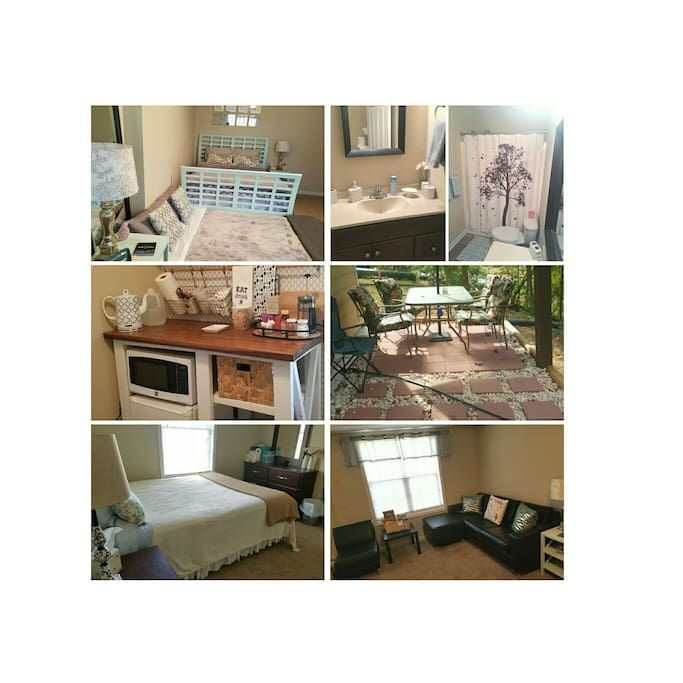 Two Private bedroom/bathrooms. Private Kitchenette. Private Living Space. Private Entrance. Private Closet space and Private Patio.
