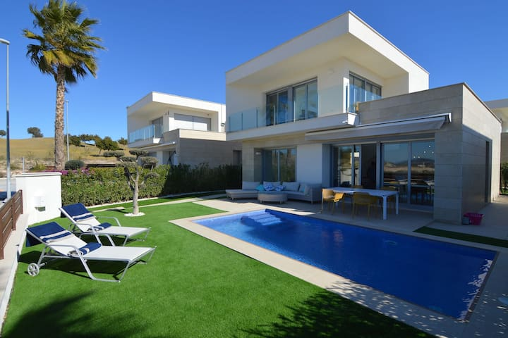 Modern luxurious villa with private swimming pool near Vistabella Golf