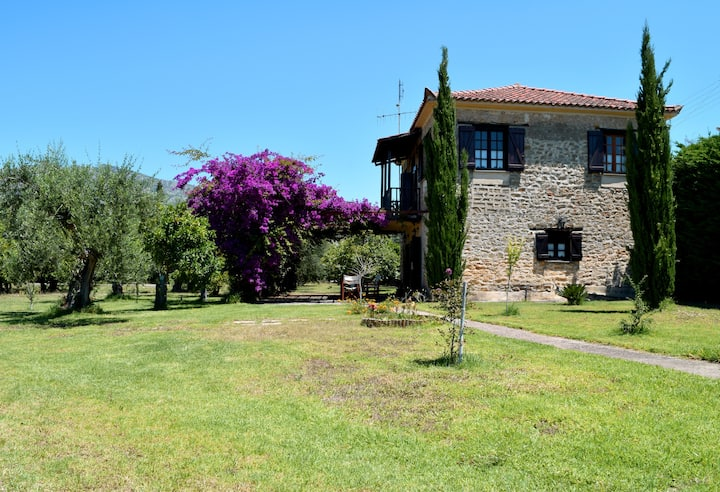 Traditional peaceful stone house