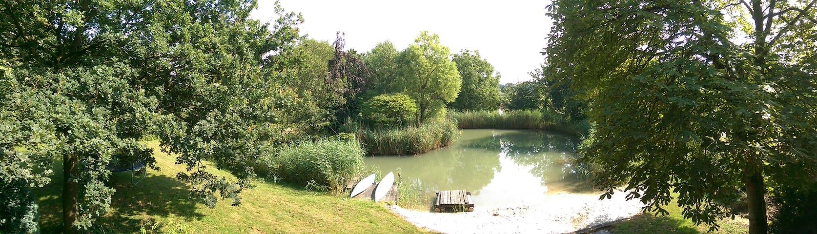 in idyllischer Lage direkt am Rand von Schermbeck