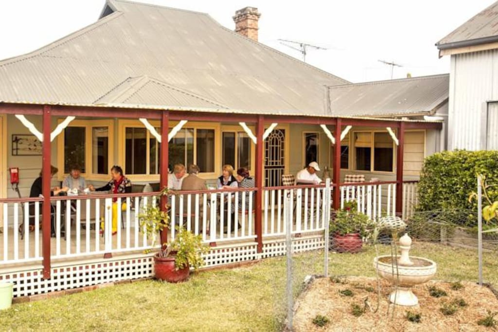 Guests on back verandah
