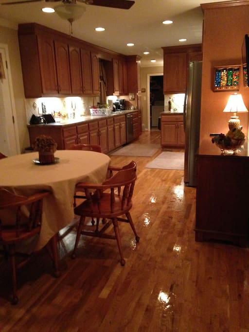 Fully equipped kitchen with stain-less steel appliances