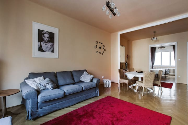 Sunny apartment with balcony in the city center