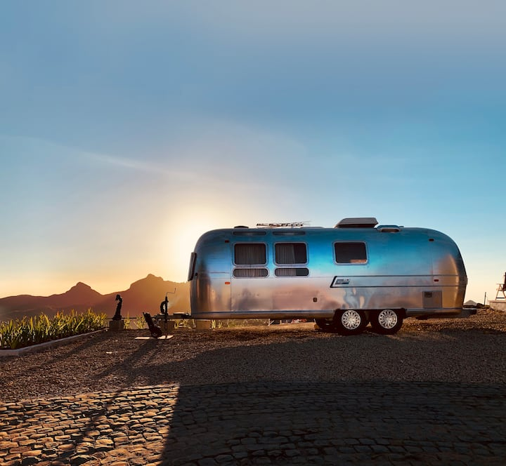Vintage Airstream Suite  on Top of a Hill
