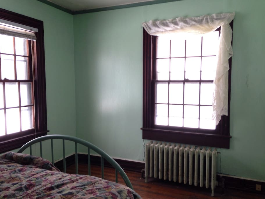 Your downstairs bedroom. A calm and quiet room.