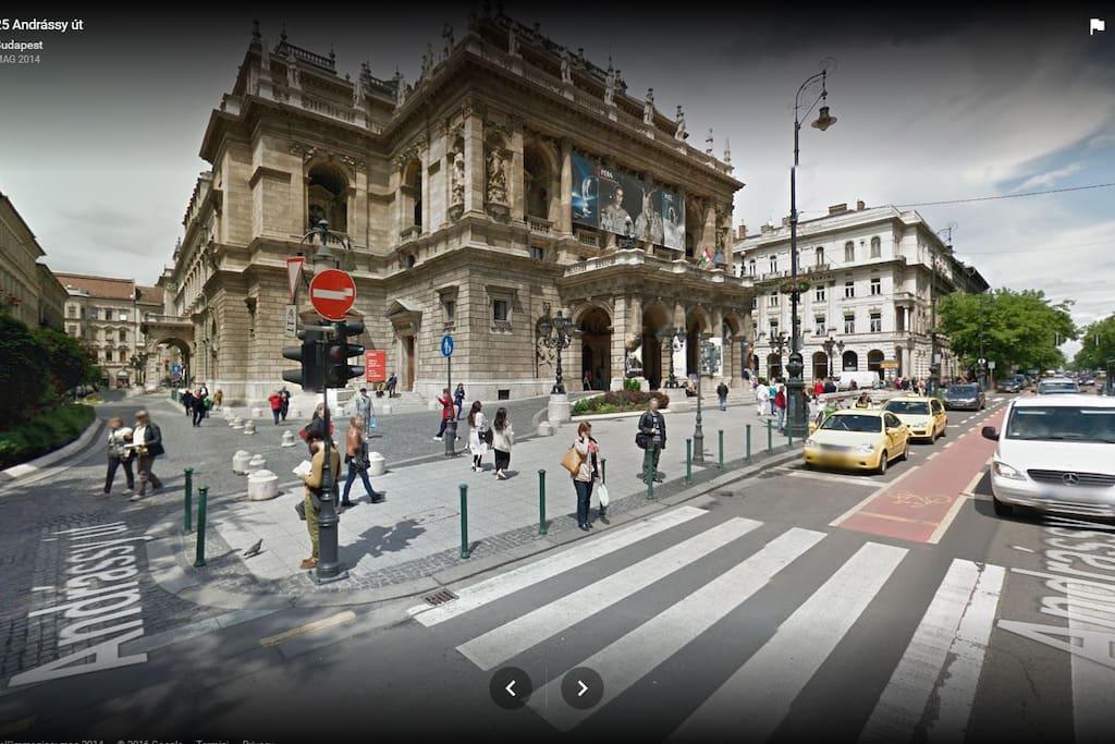La via vista da Streetview di google