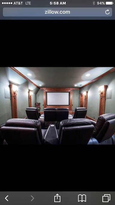 Media room with 8 electric chairs.  Acoustics that are recoding studio grade.  Throughout entire house!