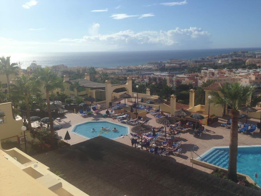 Espectaculares vistas a la piscina, mar, La Gomera