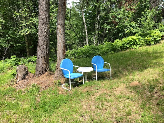 There are a number of quaint spots to sit and enjoy nature.
