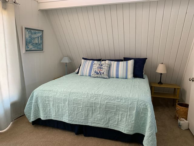 King bed upstairs