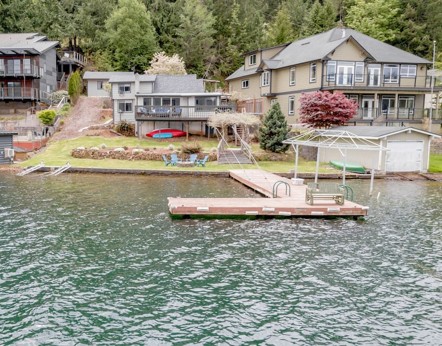 75ft of no-bank waterfront with your own private dock.