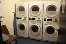 Coin-Operated Washers and Dryers are available, as well as an iron and ironing board.  Valet Dry Cleaning is also available for a fee.