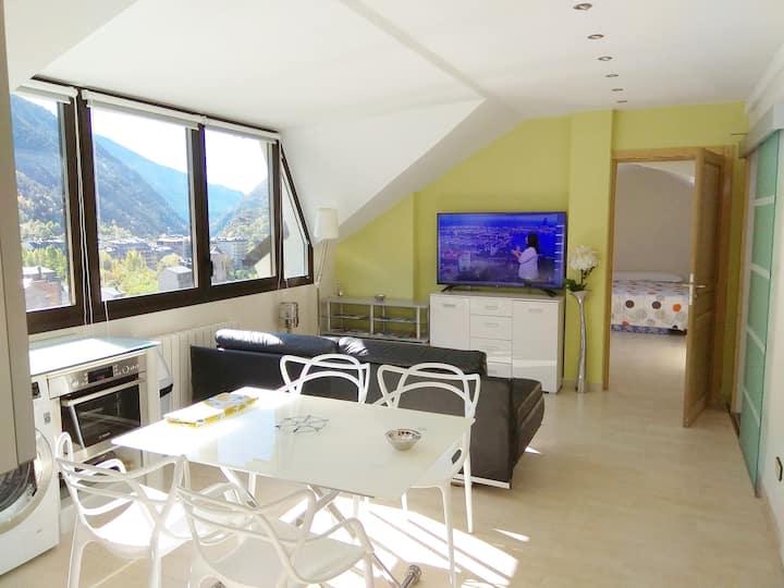 Atico Panoramico WIFi Encamp Andorra 2Habitaciones