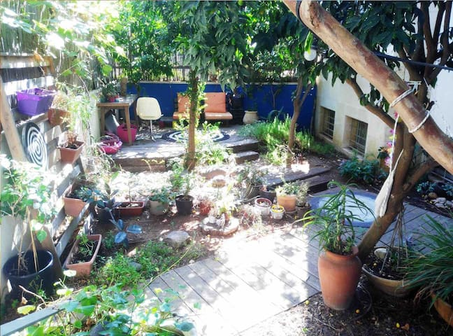 Very big herbal garden with lots of sun air and privacy.