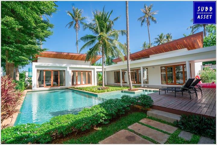 Modern Style PoolVilla | 1min to Pranburi Beach