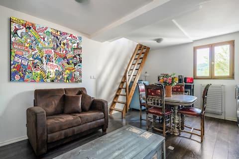 Charmant Duplex Indépendant dans jolie Maison