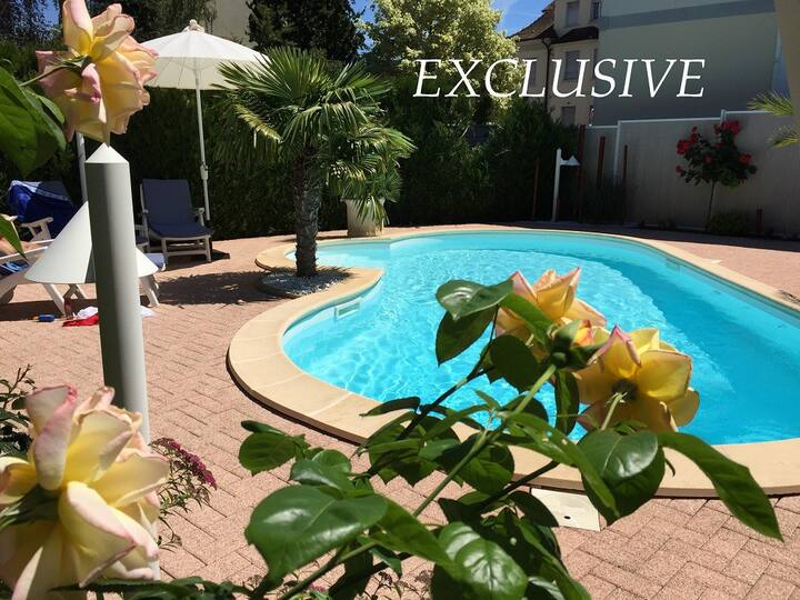 BASELWORLD-Nice modern apart 85m²+Garage-Gard-Pool
