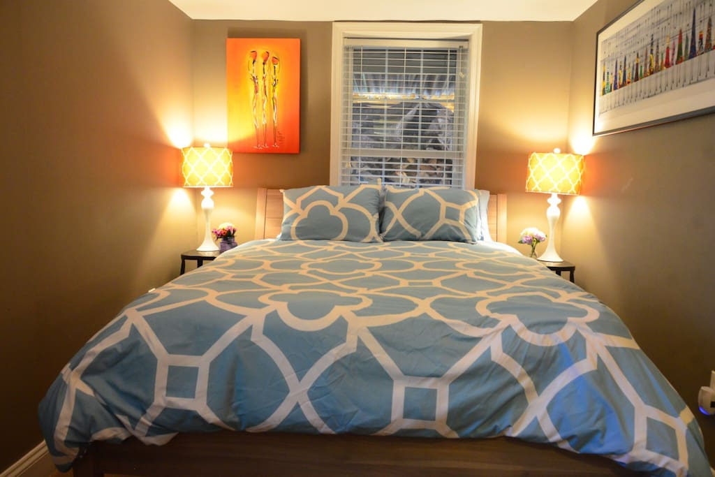 Luxurious comfort and style in the main bedroom