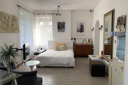Une luxueuse chambre dans une maison de maître.