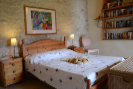A Spacious Room in a Traditional French Cottage - Bonneville-et-Saint-Avit-de-Fumadières - Maison