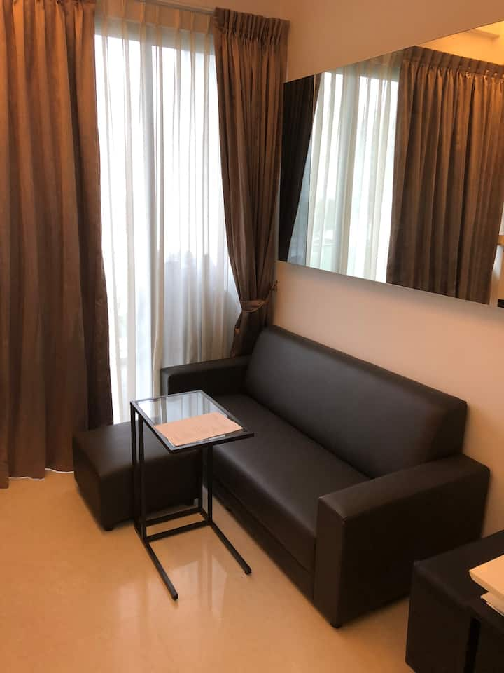 Private room in a two storey penthouse at Eunos.